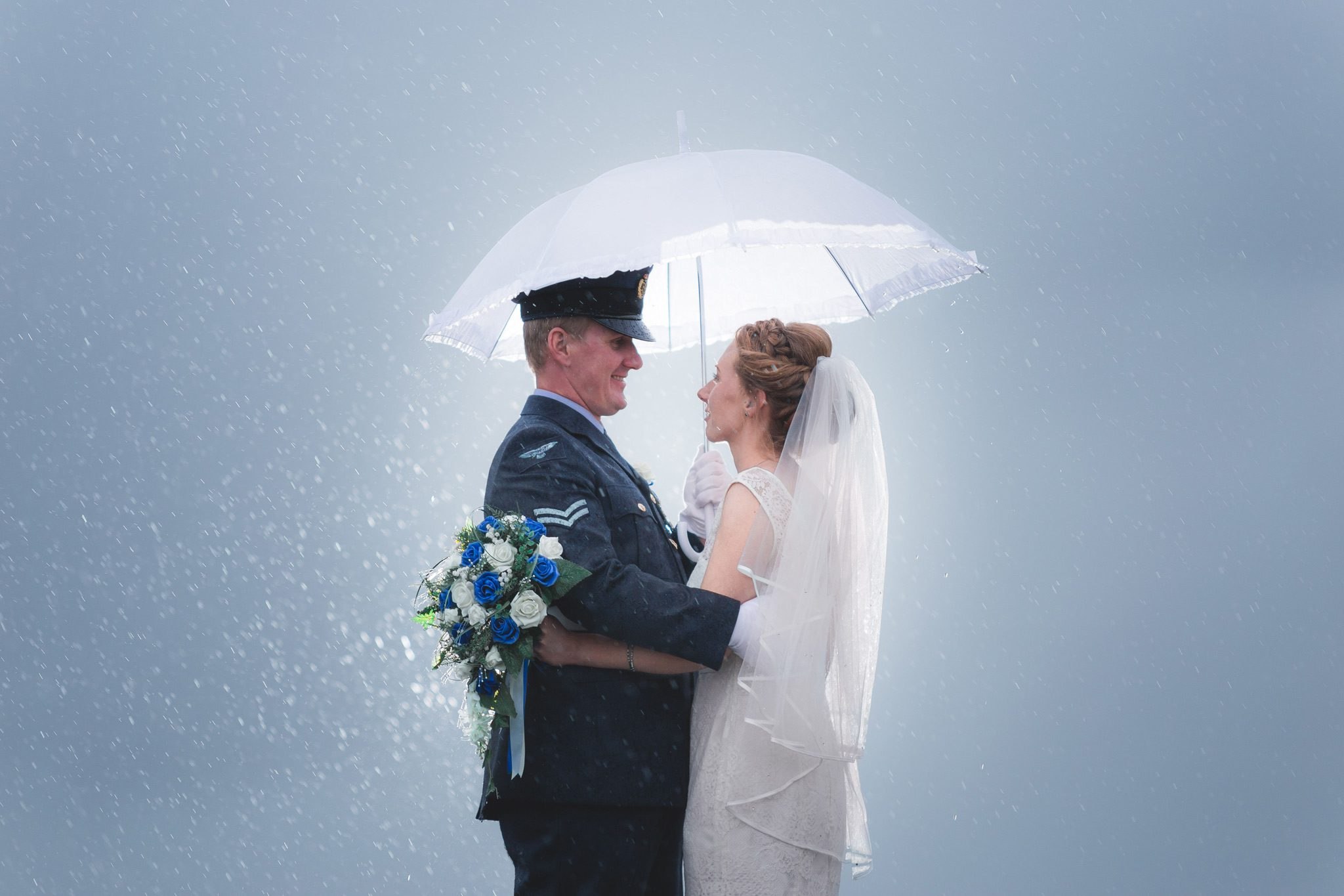 Peak District Wedding Photographer - Curbar Edge - Rain