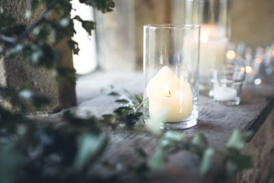 Summer Wedding at Haddon Hall - Candles