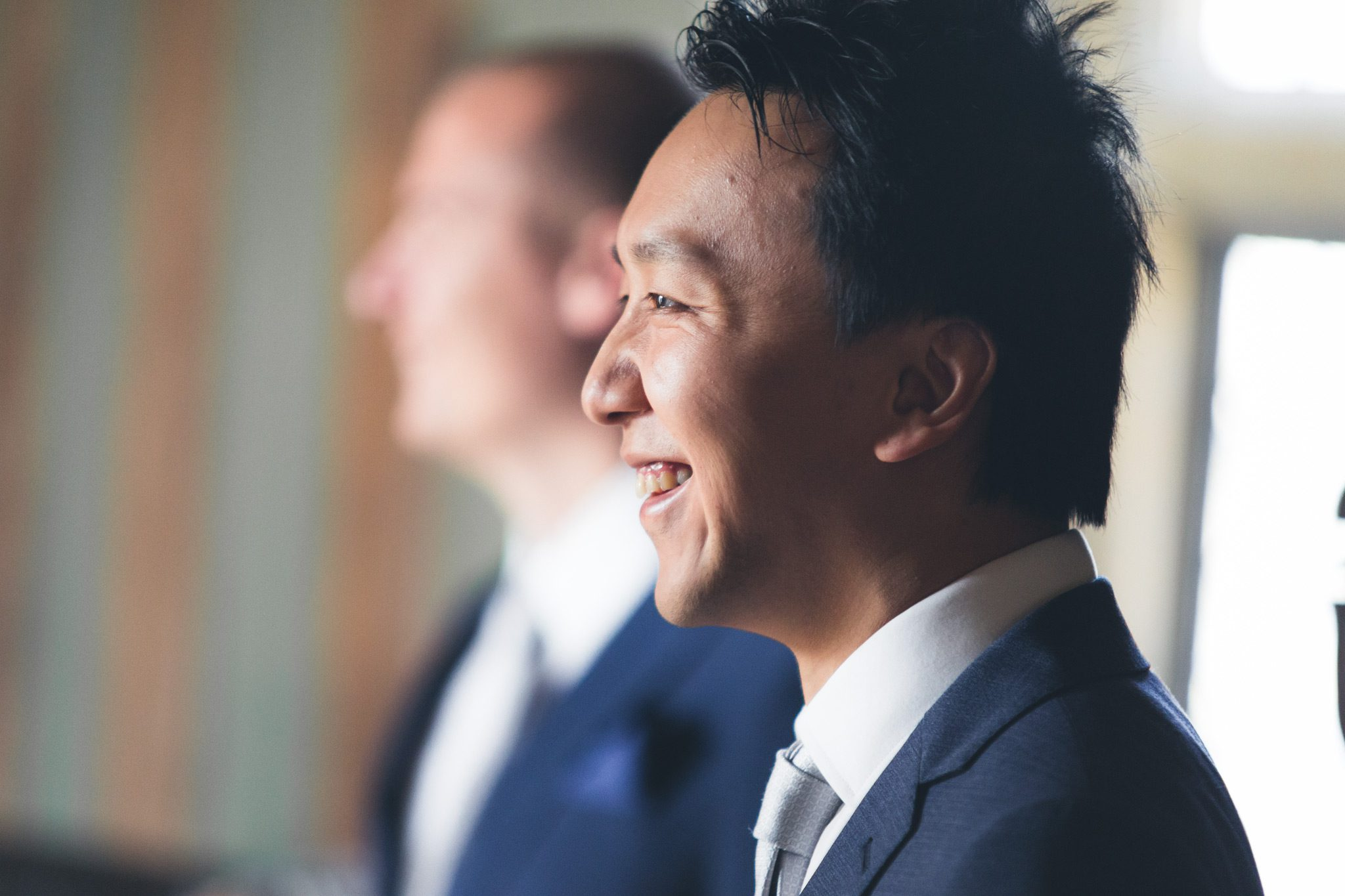 Summer Wedding at Haddon Hall - Lufei chatting to his guests