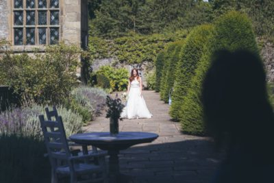 Haddon Hall Bride Walking