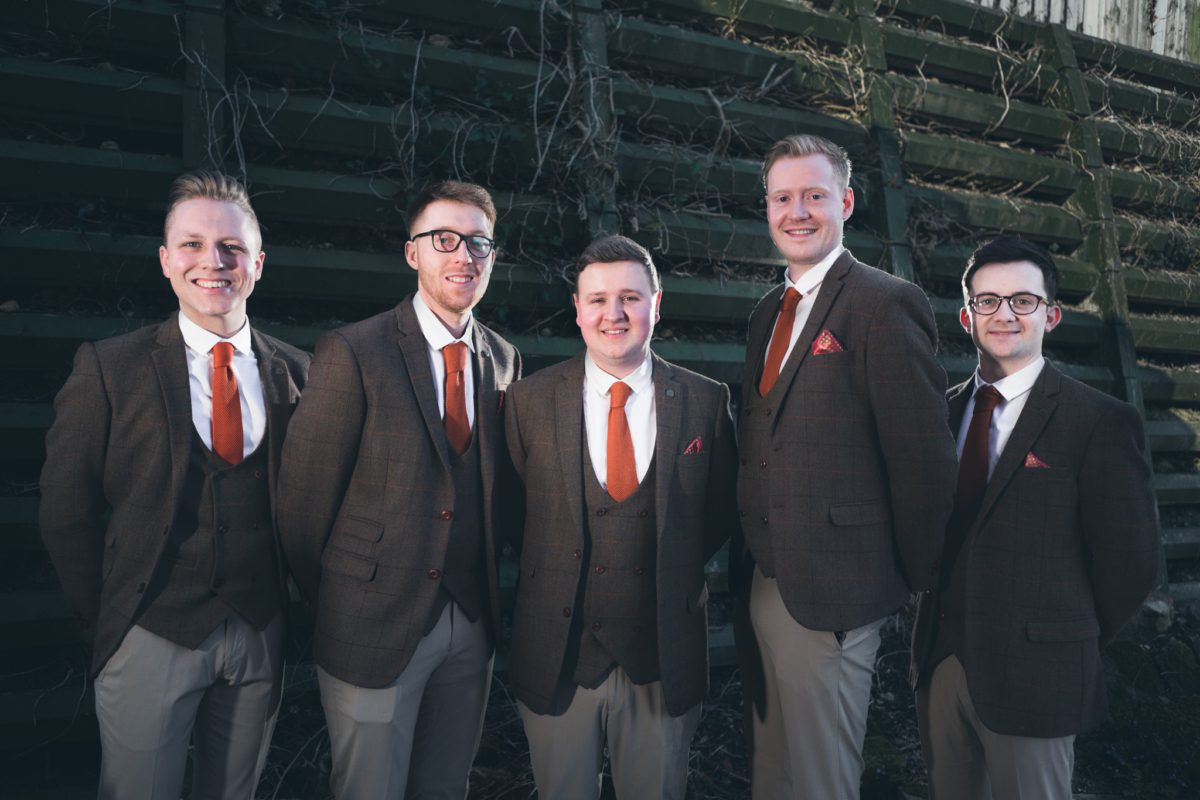 Groomsmen in the Peak Dostrict