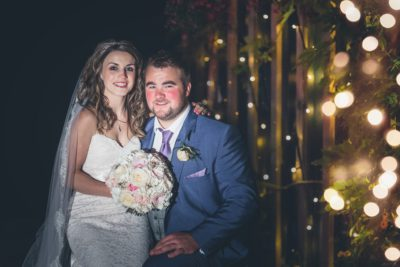 Heaton House Farm Rustic Venue Couple Shot