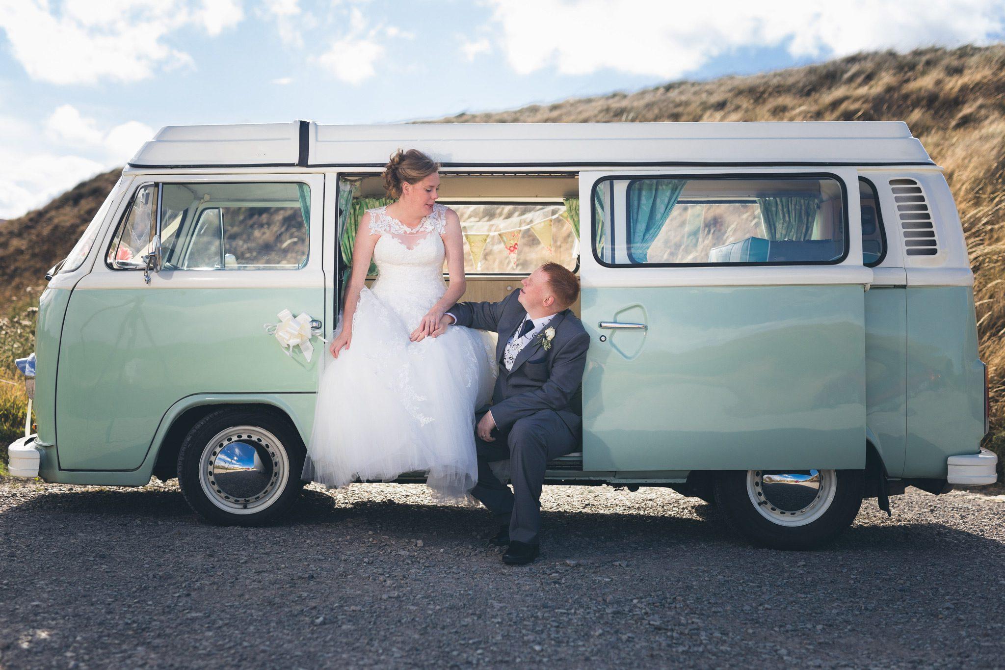 Couple at Campervan Wedding