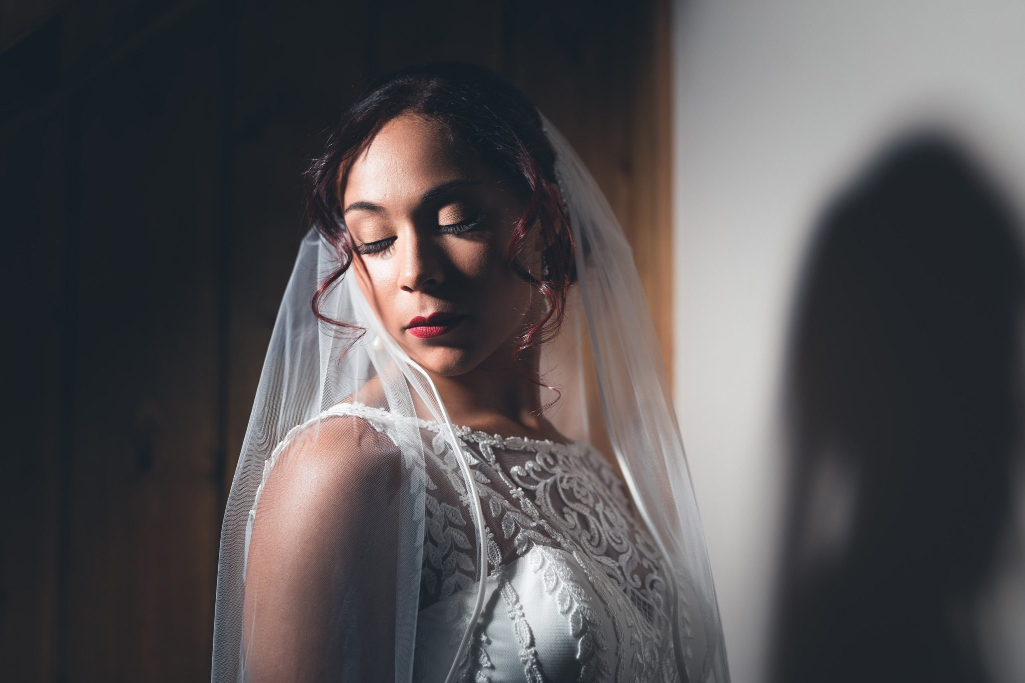 Beautiful bridal portrait in the Peak District