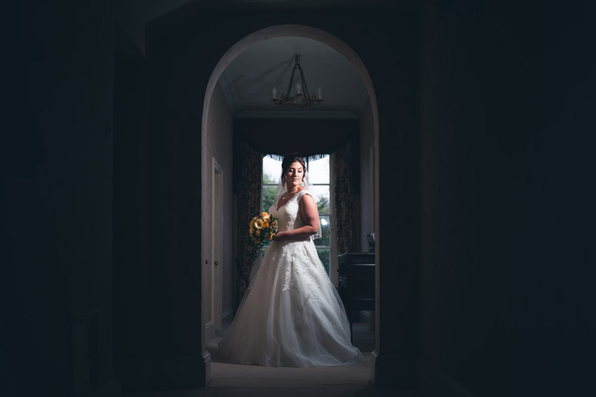 Bridal Portrait at Yeldersley Hall