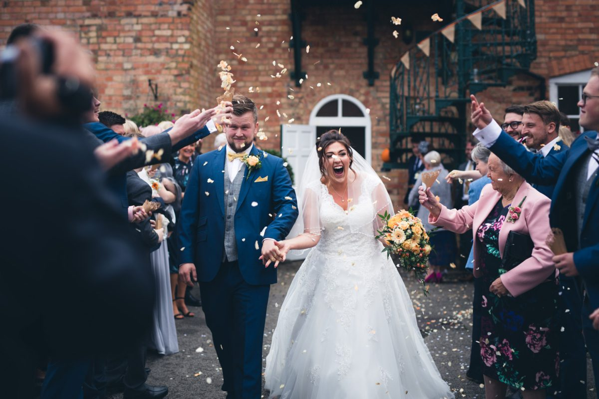 Confetti at Yeldersley Hall