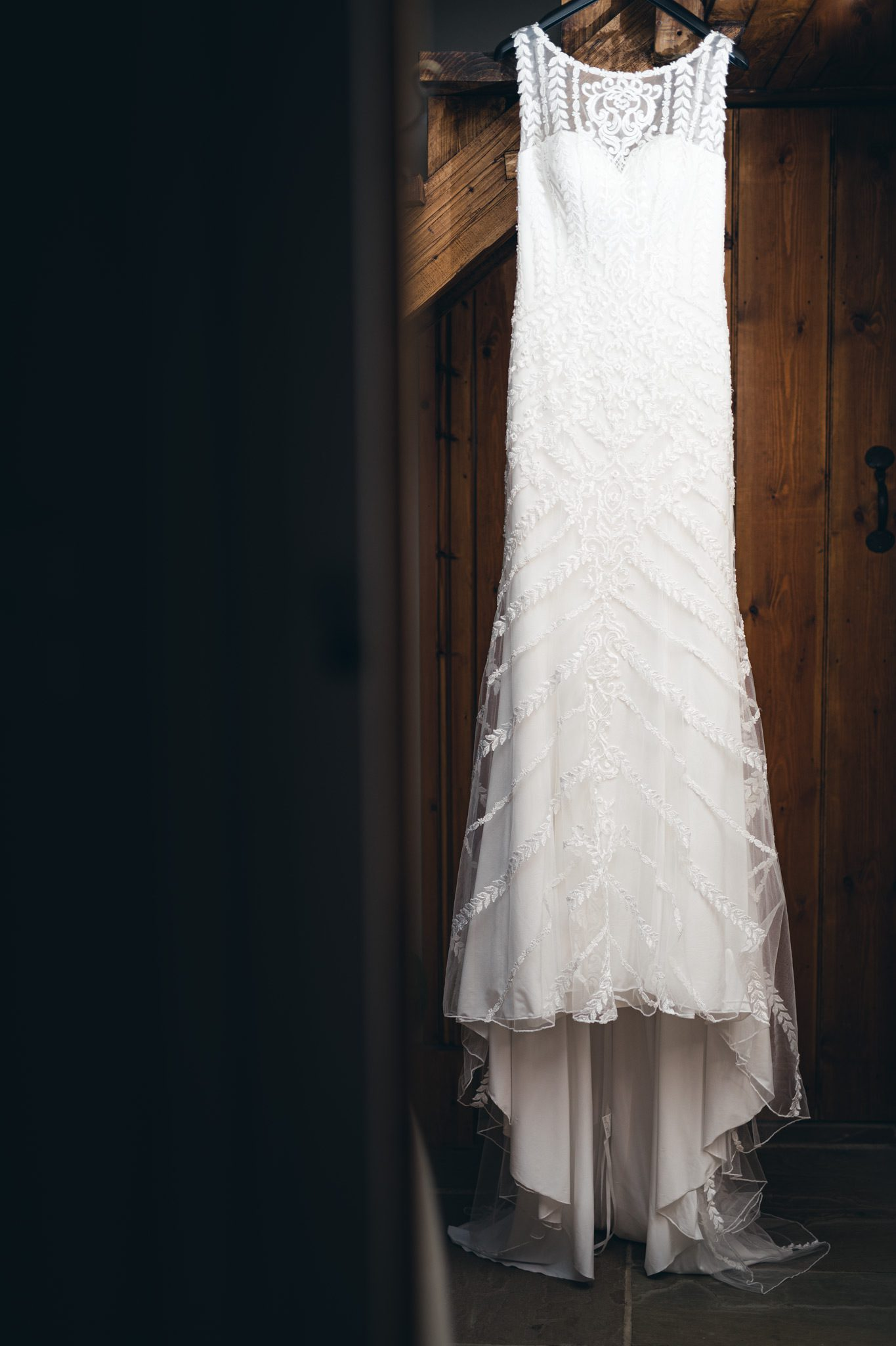 the front of a Lillian West wedding dress