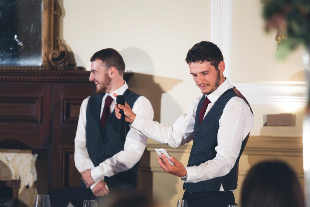 groomsmen giving their speech