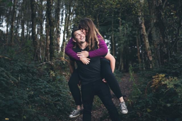 Matlock Engagement Shoot - Couple at Black Rocks