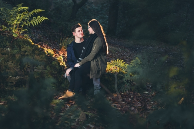 Couple sat at Errwood Hall