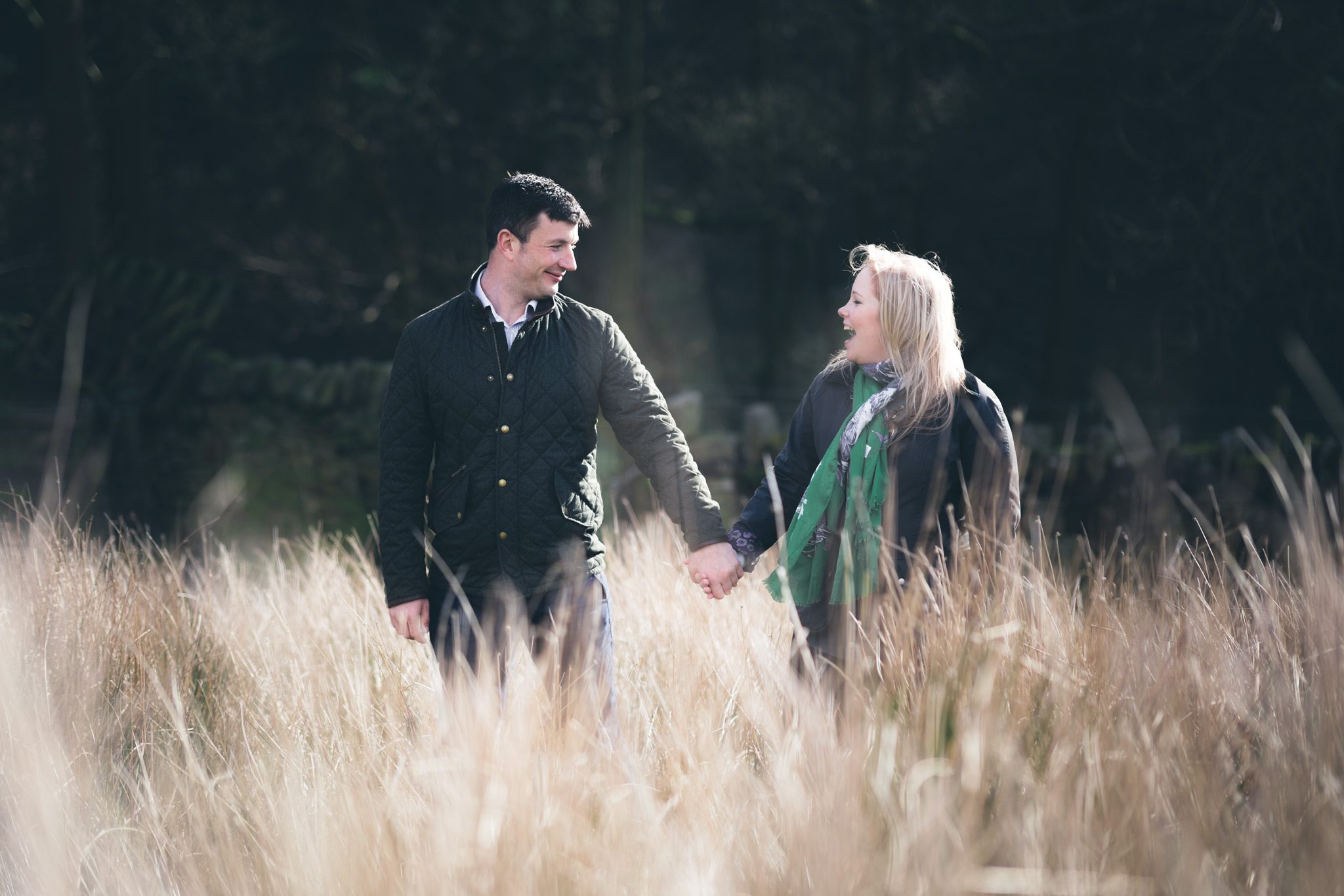 Upper House Hayfield Engagement Shoot