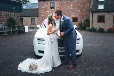 Heaton House Farm Couple and Car