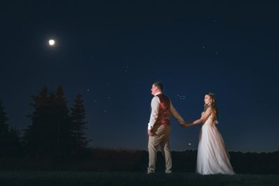 Wedding Astrophotography - Couple Under The Stars