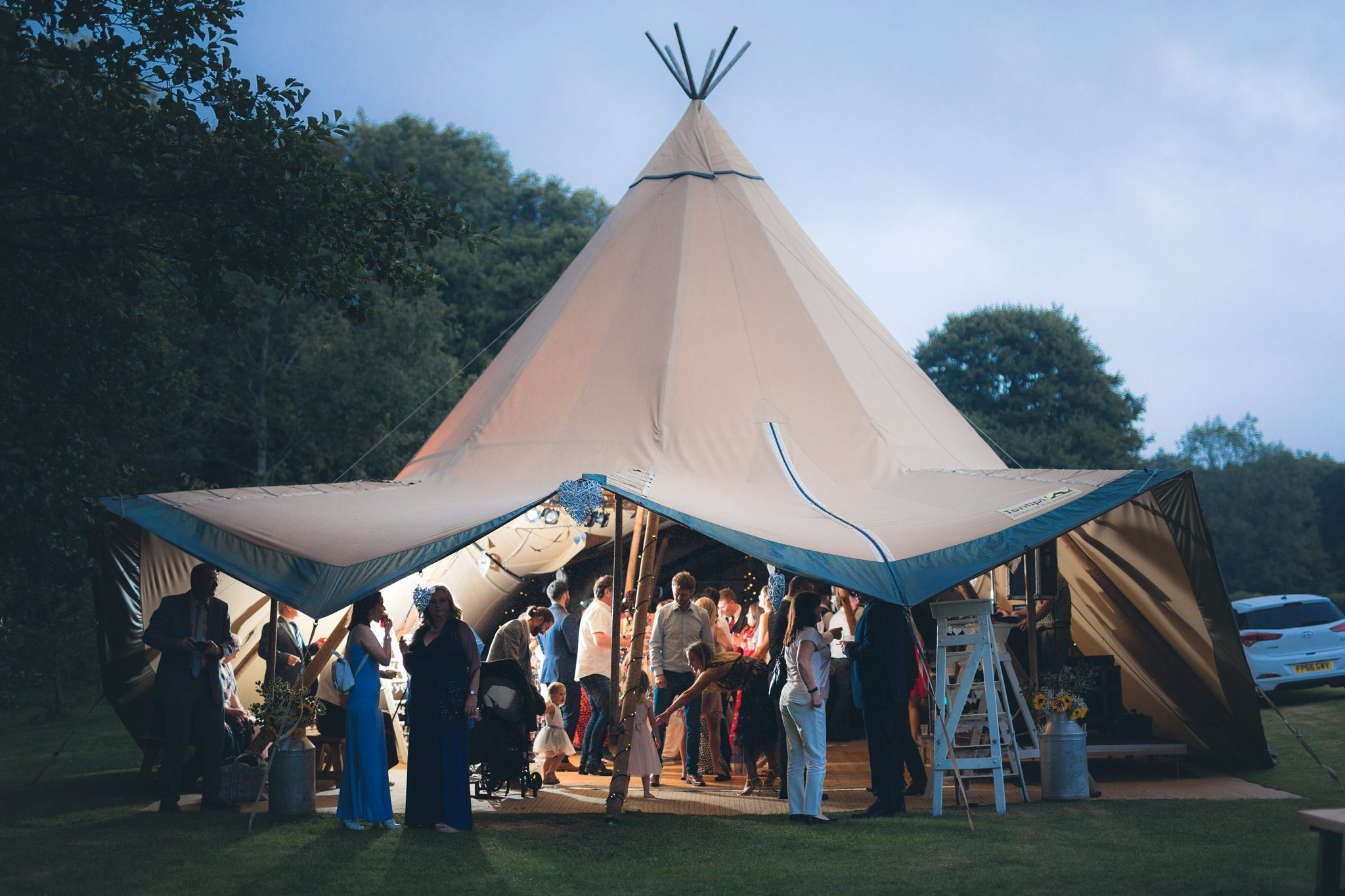 Tipi Wedding Party