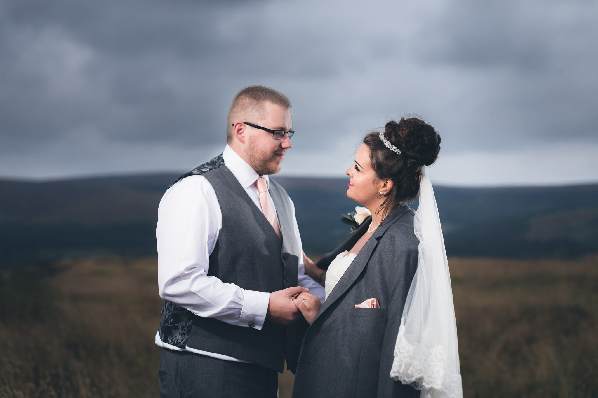 Bride and Groom at the Goyt Valley
